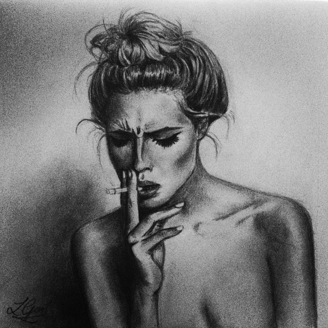 Drawn sad smoking Smoking #drawing #faded Instagram #hobbie
