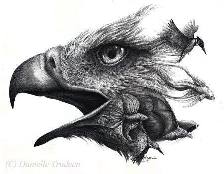 Drawn smoke eagle LuxDani 466 Smoke WildSpiritWolf Explore
