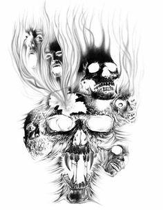 Drawn smoke skull (853×937) Evil Drug_Free_by_king_keizer Tattoos Evil