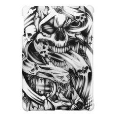 Drawn smoke skull By iPad on Arm BeniaminoBradi