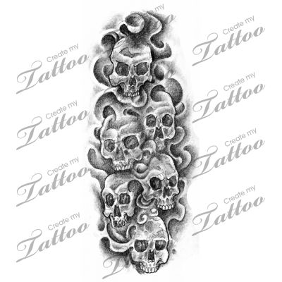 Drawn smoke skull Pinterest design images Smoke tats