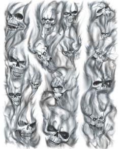 Drawn smoke skull Tattoos Tattoo Flame  Tattoo