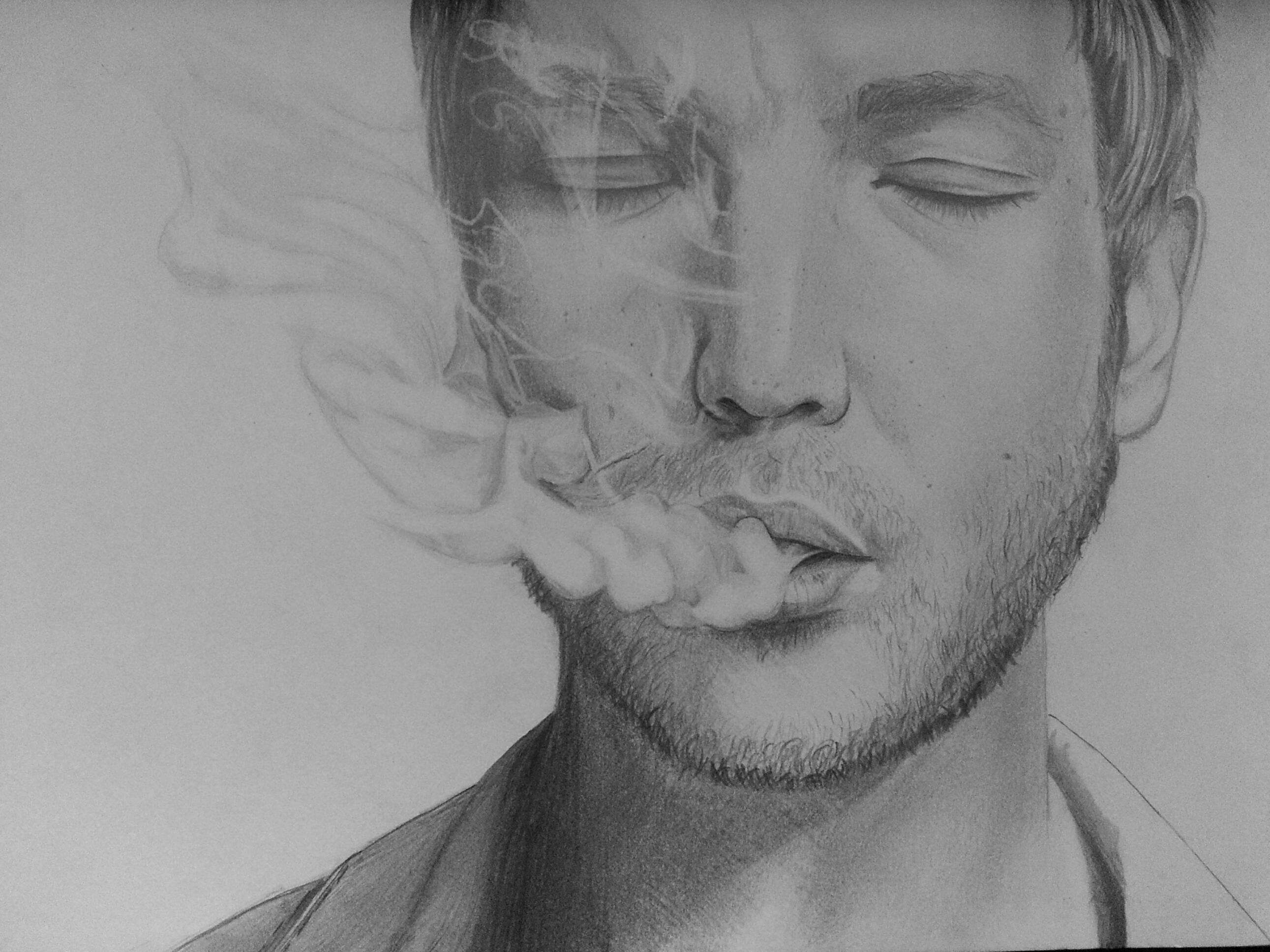 Drawn smoke smoke pencil Smoke how things to