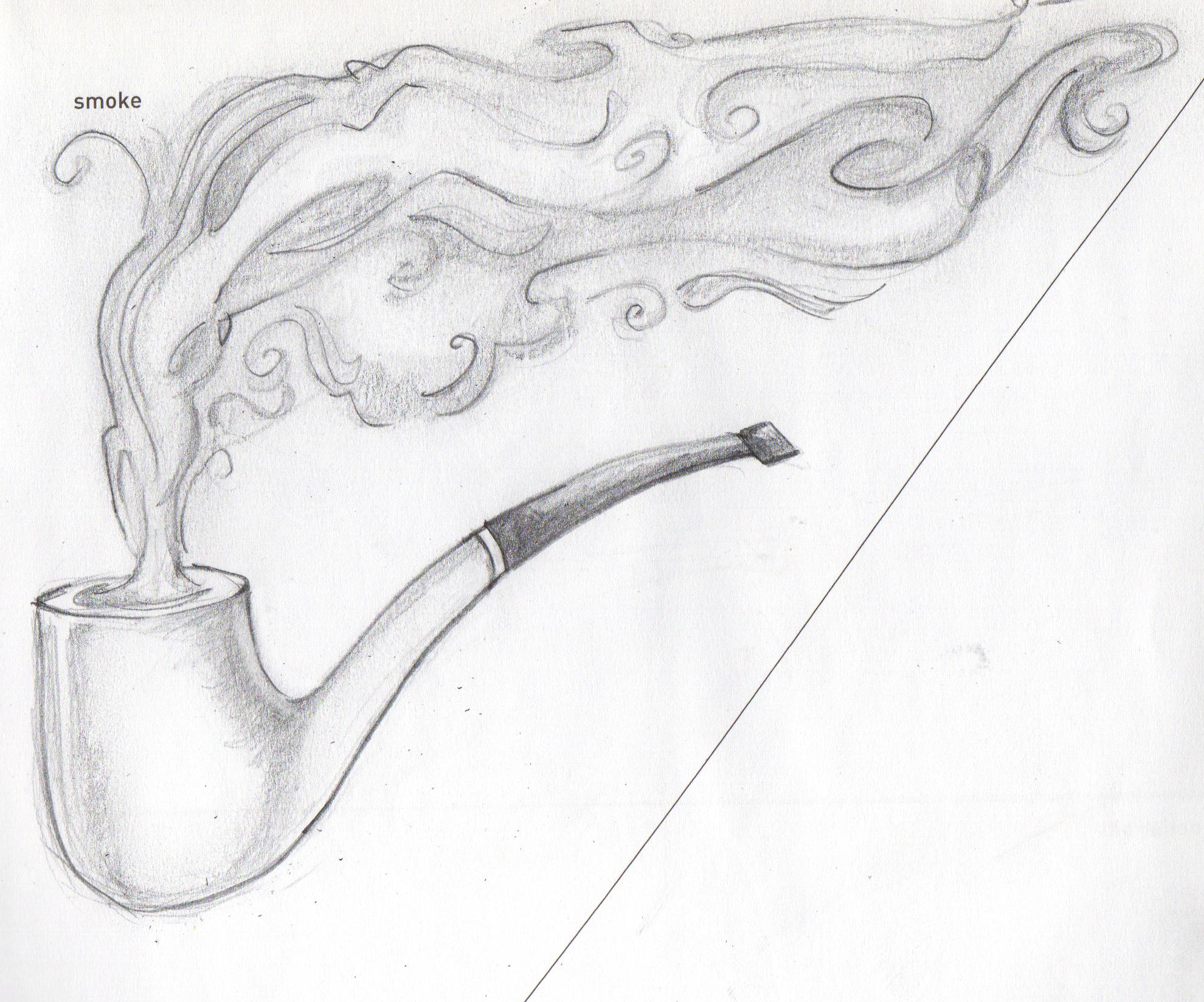 Drawn smoke smoke pencil Motives 71 Sketchy pencil sketch