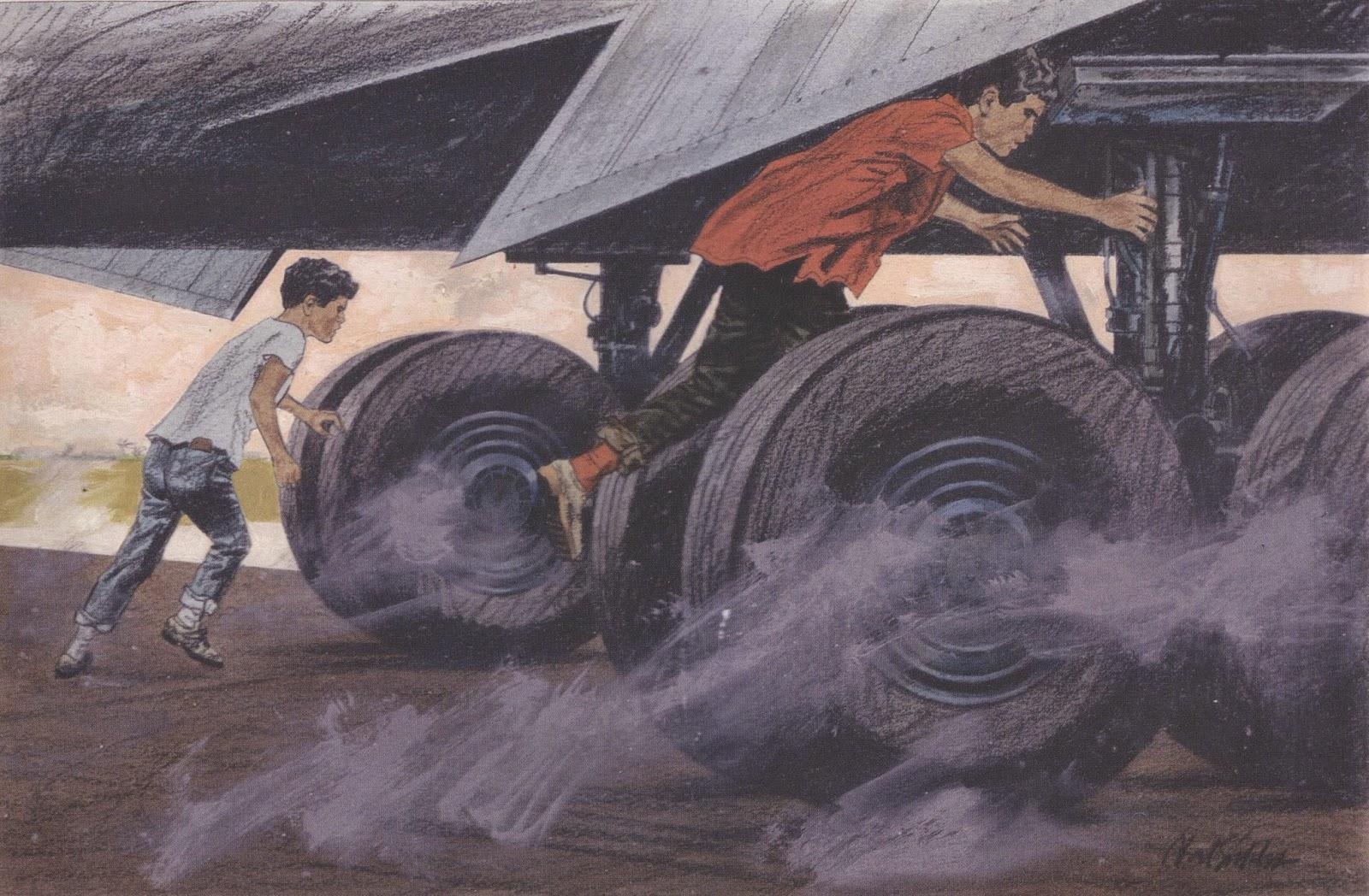 Drawn smoke tire ART: Noel ILLUSTRATION Sickles February
