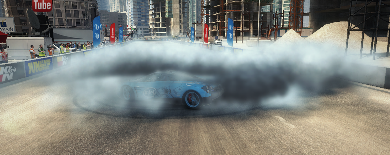 Drawn smoke tire To per Codemasters With Processors