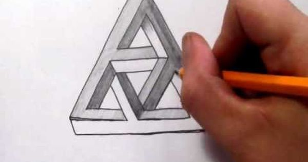 Drawn stare penrose Pinterest Triangles Impossible Draw Complex