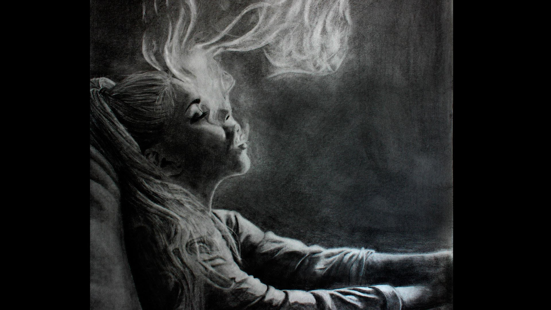 Drawn smoke face  Lapse Woman a YouTube