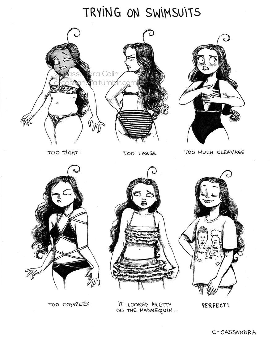 Drawn smokey comic Panda Women's Problems Romanian Artist