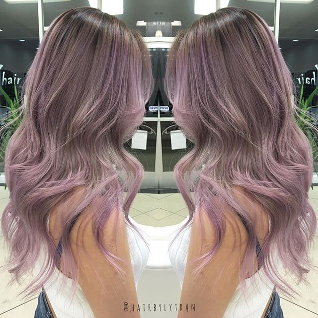 Drawn smokey creative hair Lilac You Grunge Smoky Later: