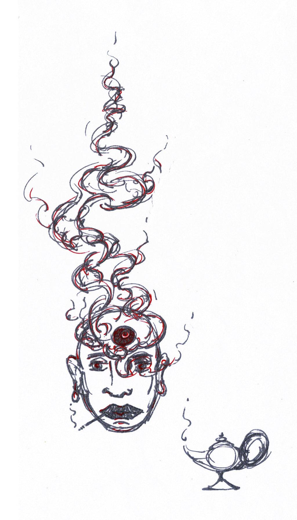 Drawn smokey genie Smokey Smokey DeviantArt Genie A