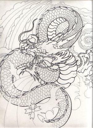 Drawn smokey japanese Images Japanese Japanese+dragon+drawing tattoo 82