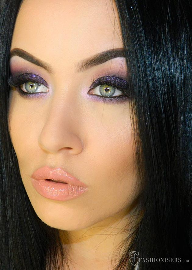 Drawn smokey lip Tutorial Smokey Deep Deep Purple