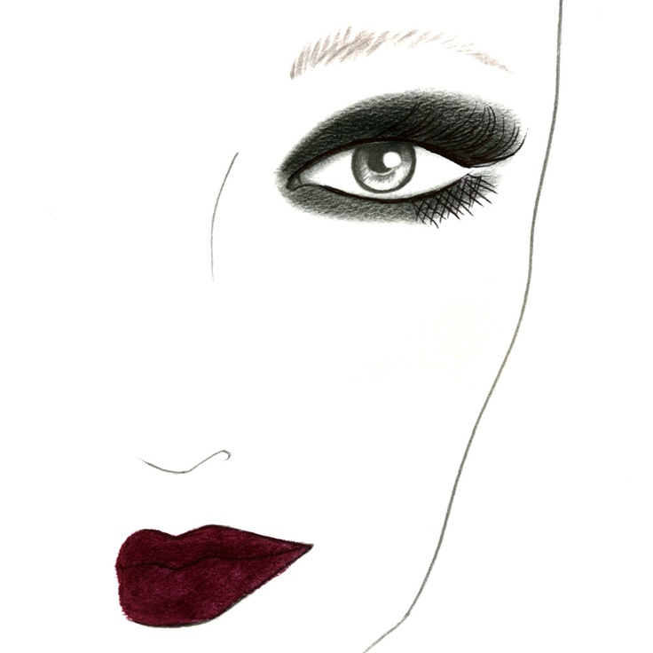 Drawn smokey lip A face Smashbox deep Trend