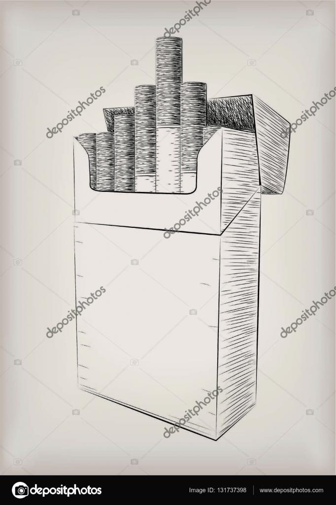 Drawn smokey pen Gray background black pen view