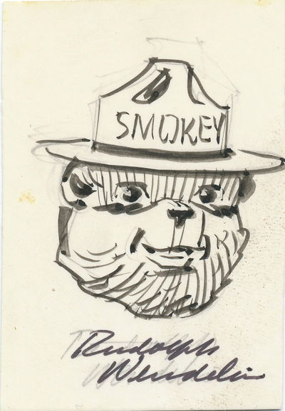 Drawn smokey pen and ink The the face pen card