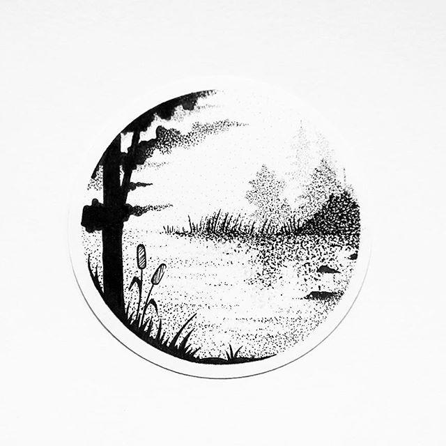 Drawn smokey pen and ink Missfuriosa draw best pointillism ink