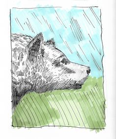 Drawn smokey pen and ink Pen Ink by Study Boostrom