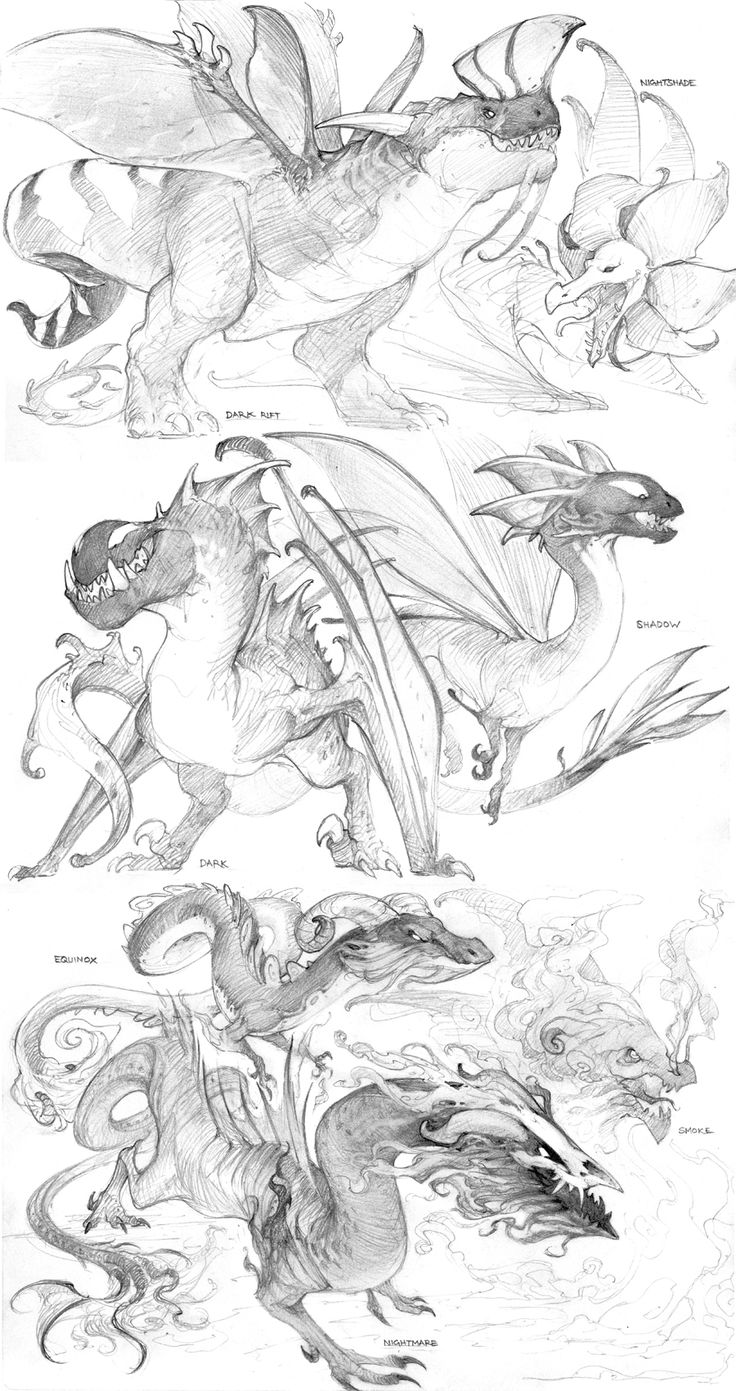 Drawn smokey pencil drawing Dragons to How this Draw