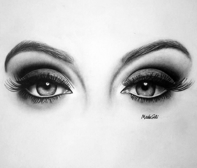 Drawn smokey pencil drawing Beautiful Eyes Drawing Pinterest this