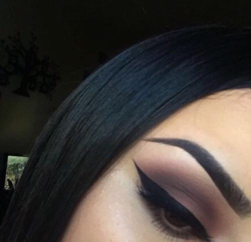 Drawn smokey seriousness Winged inspo & winged eyeliner