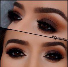 Drawn smokey seriousness & eye  winged makeup