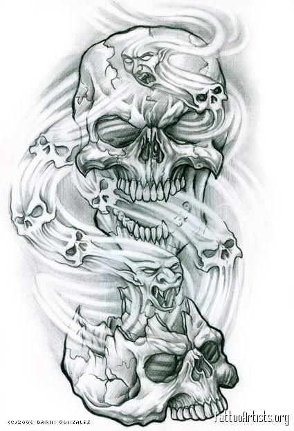 Drawn smoke skull Spirit tattoos spirit Artists skulls