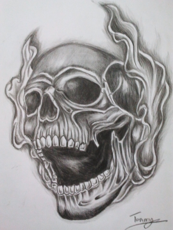 Drawn smoke skull Designs Cross Designs 2013 by