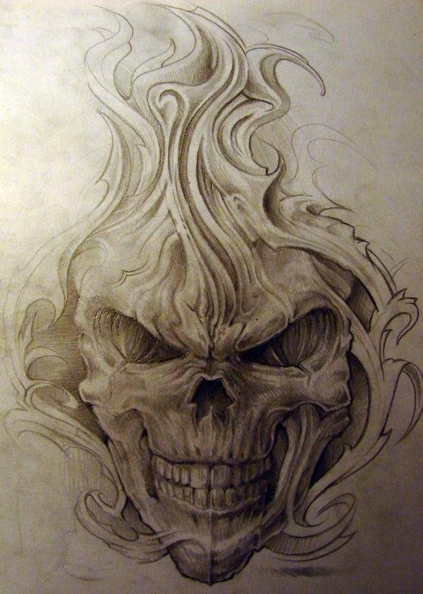 Drawn skull wicked Pirate ideas Evil on Pinterest
