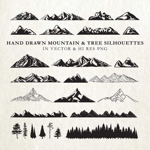 Wilderness clipart tress Mountain Mountain & Drawn AI