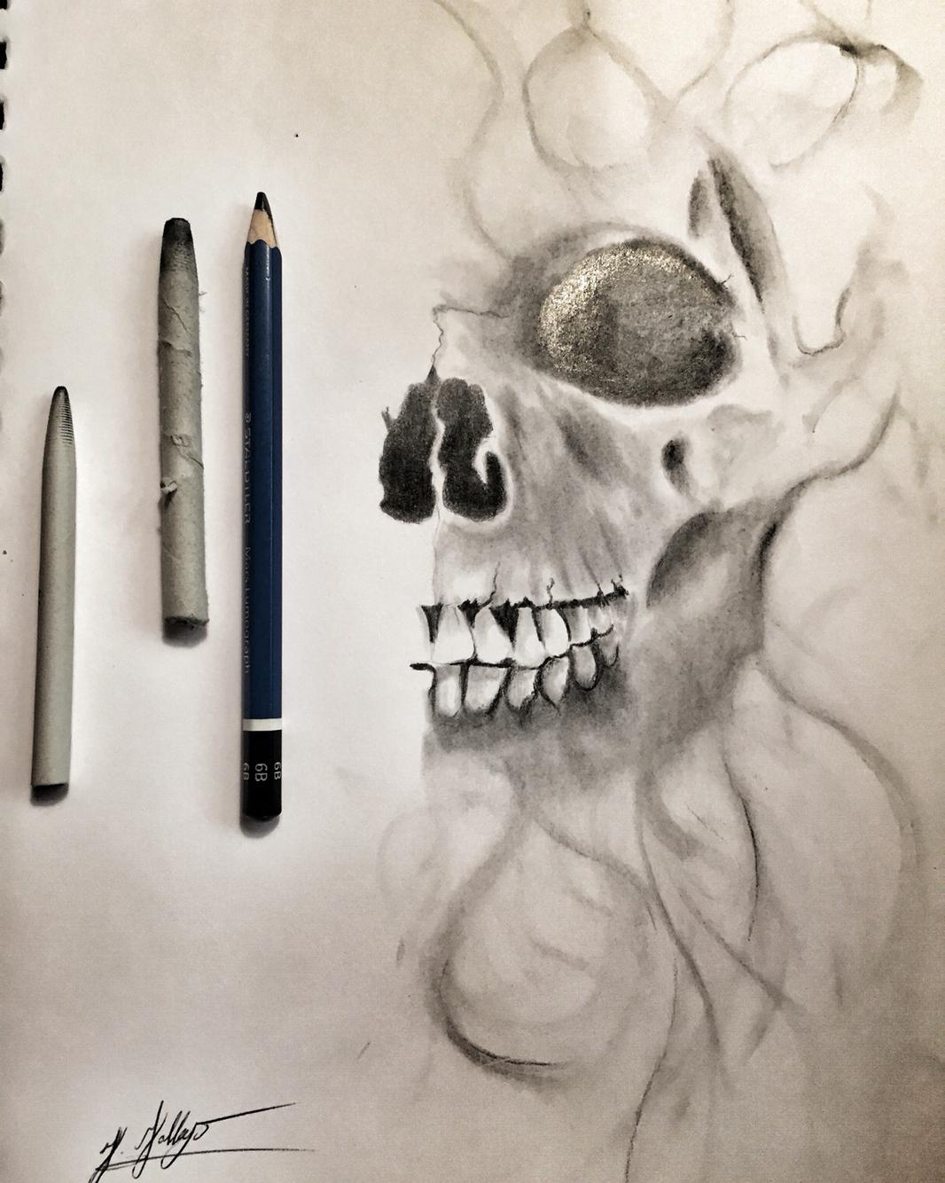 Drawn smokey skull My Smokey skull My My
