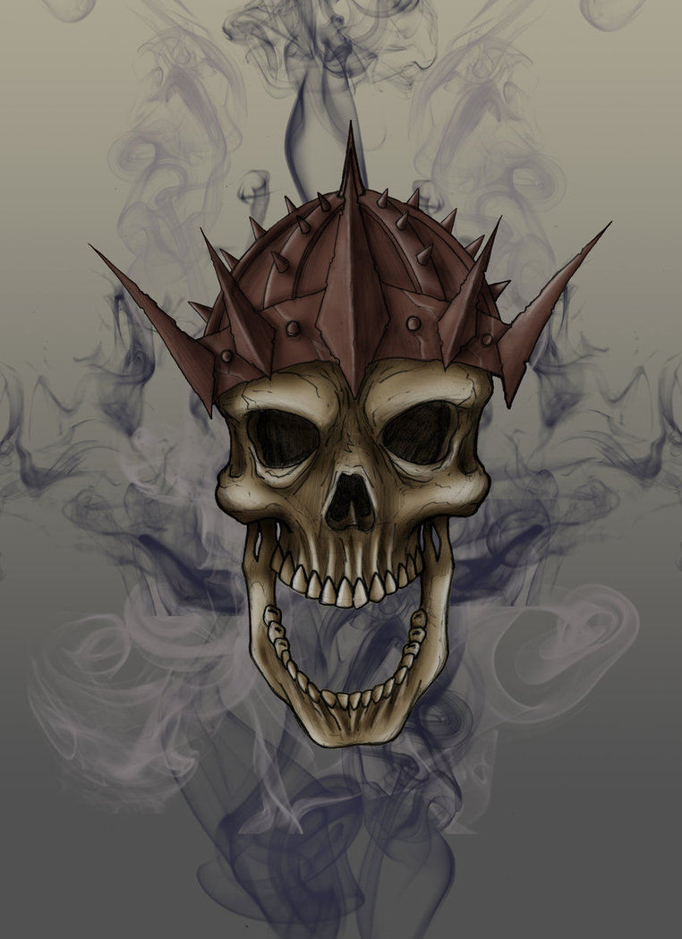 Drawn smokey skull Smokey Smokey Skull wangchung5 by