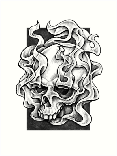 Drawn smokey skull Smokey Stirland Smokey Paula Design