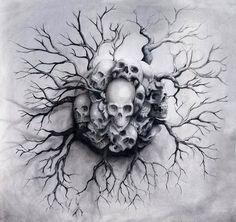 Drawn smokey skull The Tattoos hours to Drawings