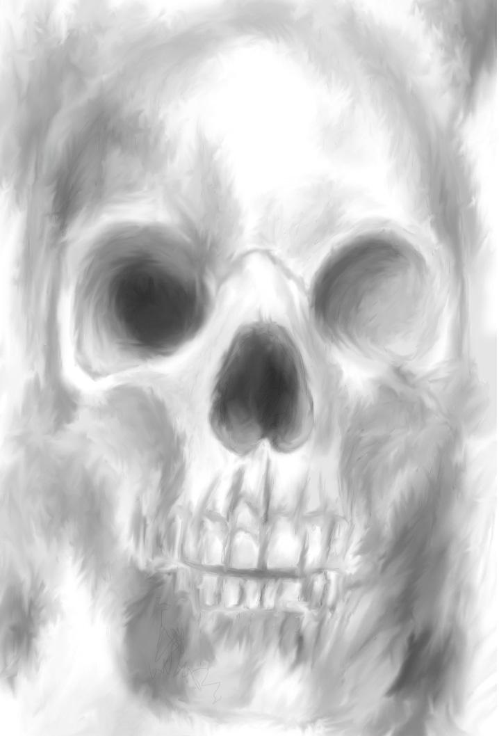 Drawn smokey skull Smokey Monkey Smokey Clock by