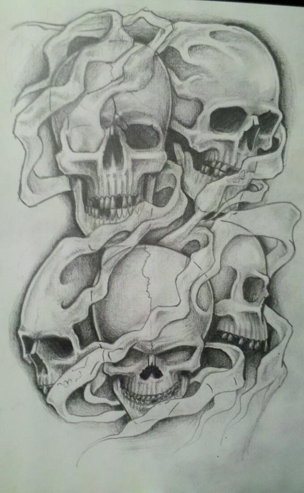 Drawn smoke skull Smokey on smokey 76Bev skulls