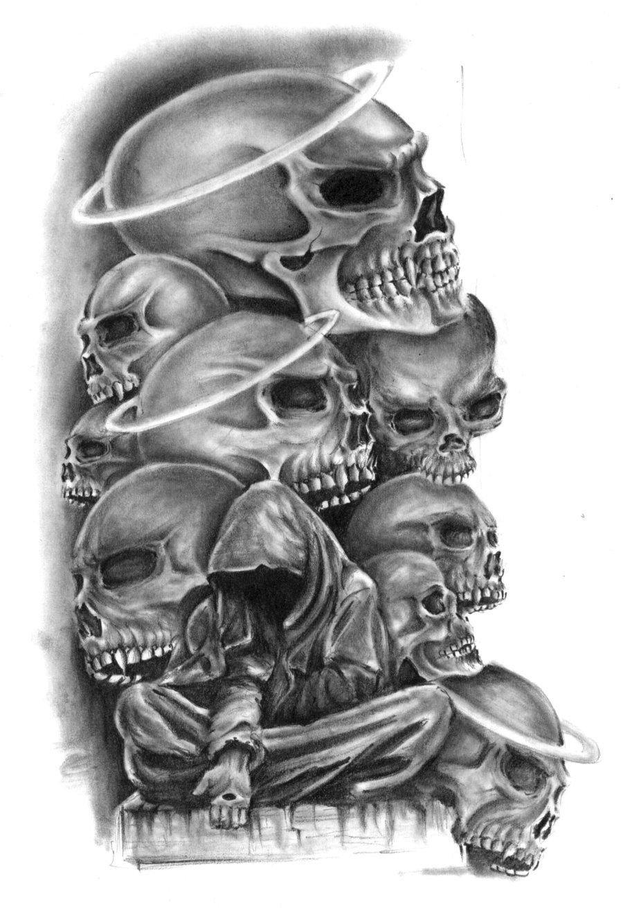 Drawn smokey skull Skulls on @deviantART com by
