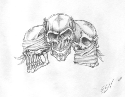 Drawn smokey skull PromethiusMae by ashes48 deisgn drawings