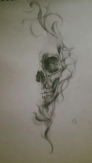 Drawn smoke skull Drawings ideas realistic drawings Groeneveld