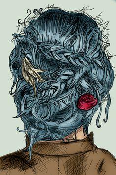 Drawn smokey wind hair On Karou Bone and deviantART
