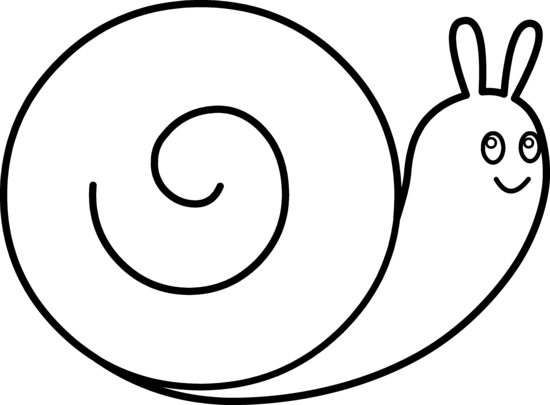 Drawn snail black and white Best Cute free page coloring