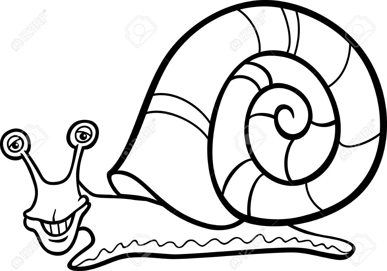 Drawn snail black and white Clipart Snail And (4385) Clipart