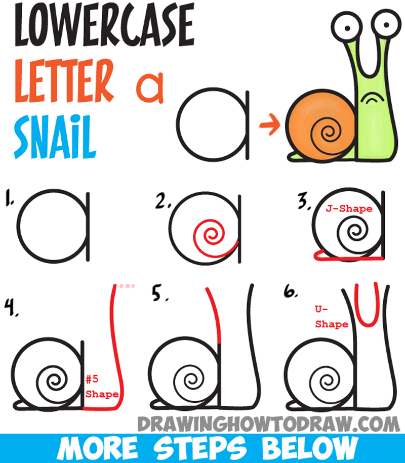 Drawn snail comic Easy Snail to Tutorial Step
