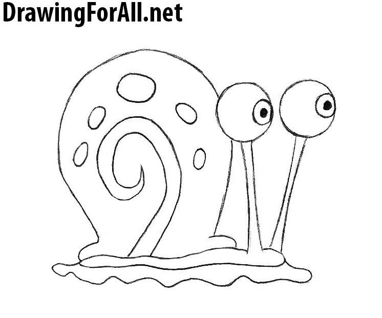 Drawn snail gary Net to to the how