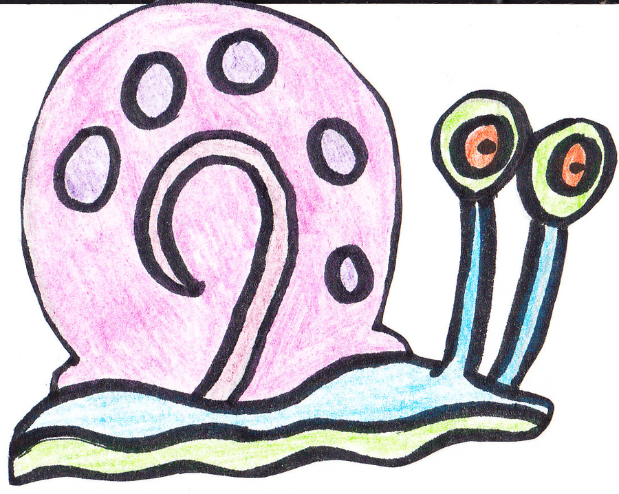 Drawn snail gary Meepem Meepem the Snail on
