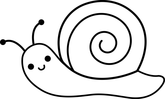 Drawn snail outline Free Clip Clipart on Download