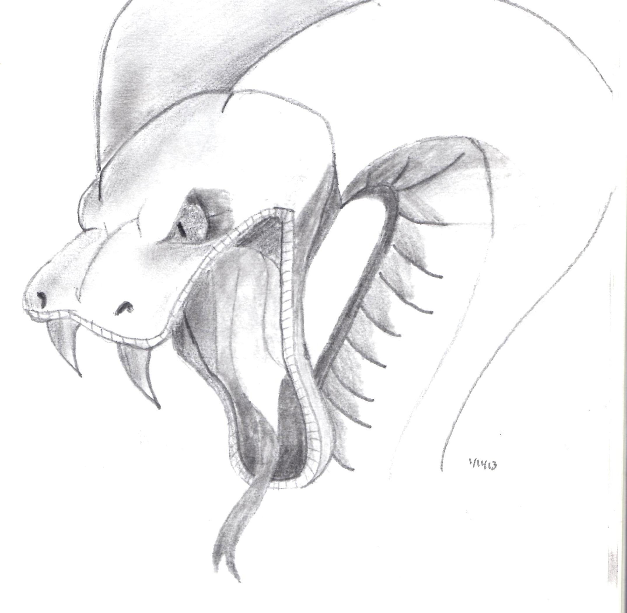 Drawn snake angry snake 2017 Drawing © Drawing 20