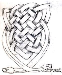 Drawn snake celtic knot Starlightluvsu snake by snake tattoo