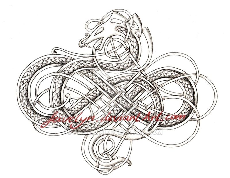 Drawn snake celtic knot Tattoo  tattoo Tattoo @DeviantArt