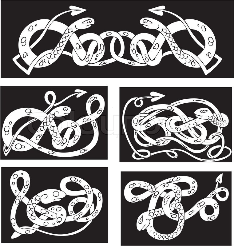 Drawn snake celtic knot Are Trinity Celtic made are
